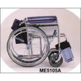 C/P Steel Standard Wheel Chair-heavy duty type with drop back handle