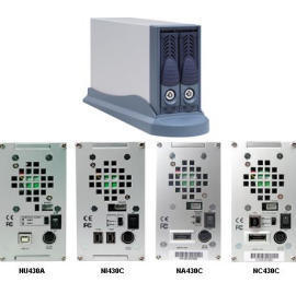 Mini 2-Bay eSATA-to-SATA RAID Subsystem