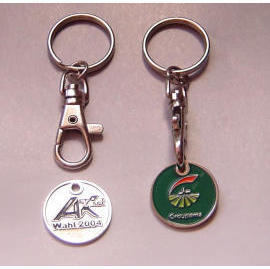 Trolley Coin Keychains (Тележка Coin Брелки)
