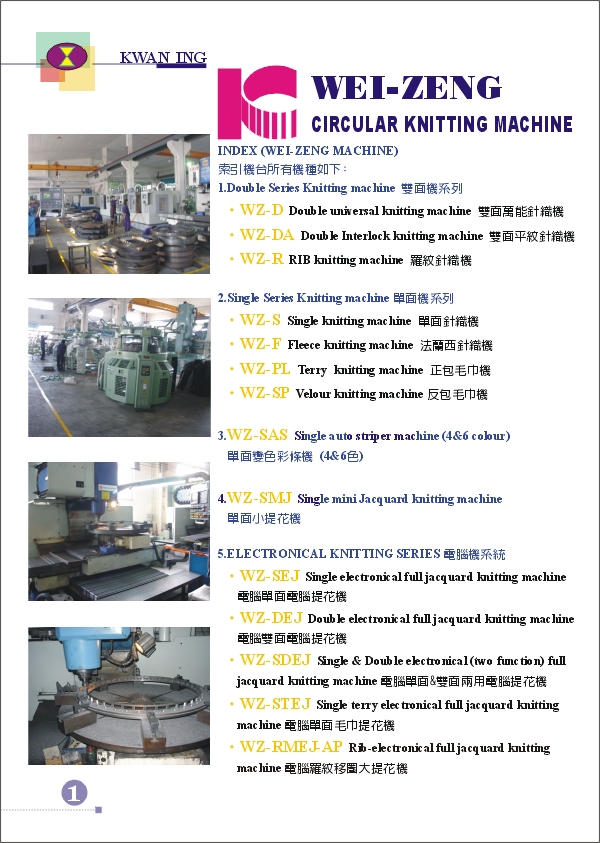 (2) WEI-ZENG MACHINE INDEX