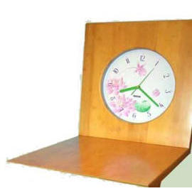 Bamboo Z style chair clock