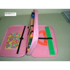nylon pencil case w/stationery