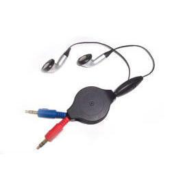 RETRACTABLE SKYPE STEREO EARPHONE