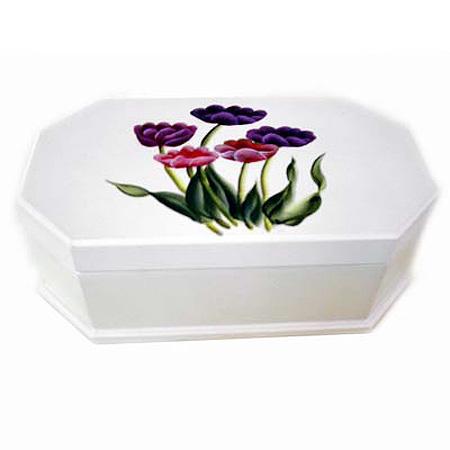 Hand-painted Tulips Music Boxe (Ручная роспись тюльпанов музыки Boxe)
