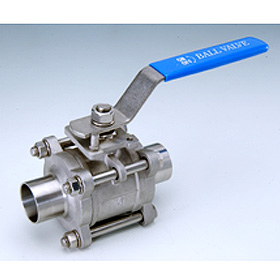 3-PC Hygienic Butt Weld End Ball Valve (3-PC Гигиенические стыкового соединения Конец шаровые краны)