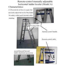 Remote-control manually adjustable horizontal ladder leveler for A type ladder (Дистанционное управление с ручной регулировкой горизонтального левеллер лестнице на тип лестницы)