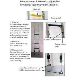 Remote-control manually adjustable horizontal ladder leveler for H type ladder (Дистанционное управление с ручной регулировкой горизонтального левеллер лестницы для лестничного типа H)