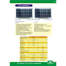 MATV, Channel Amplifier, Channel Converter (MATV, Channel Amplifier, Channel Converter)