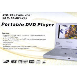 portable DVD player, 7``DVD player, 7`` LCD panel, (portable DVD player, 7``DVD player, 7`` LCD panel,)