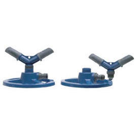 2-arm Revolving Plastic Sprinkler Head on Mini Ring Base