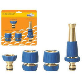 4-pc Comfort-Grip Brass Watering Set