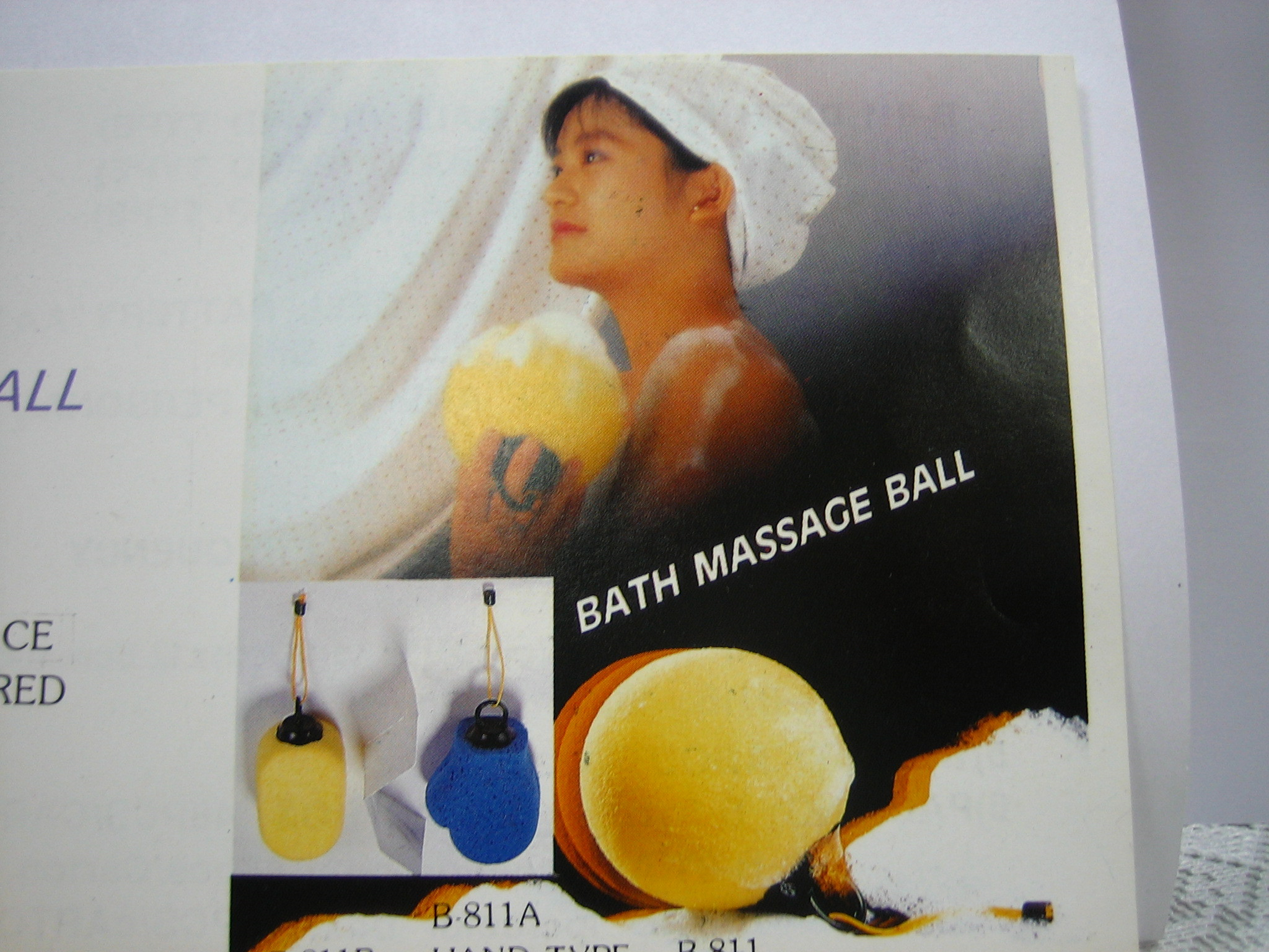 Bath massage ball