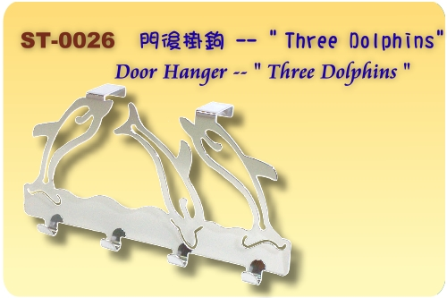 Three dolphins door hanger