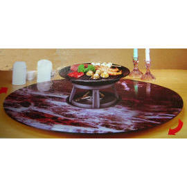 ROTATING GLASS DINING TABLE/LAZY SUSAN