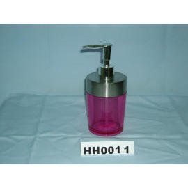 Snare series lotion dispenser w/stainless steel top rim (Snare серия лосьон дозатором Вт / нержавеющая сталь верхнего края)