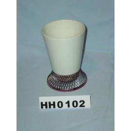 Ceramic tumbler w/network base (Керамический стакан W / сетевой базы)