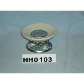 Ceramic soap dish w/network base (Керамическая мыльница W / сетевой базы)