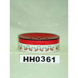 Snare series double color soap dish cherry paint (Snare Серия двойных мыльница вишневого цвета краска)