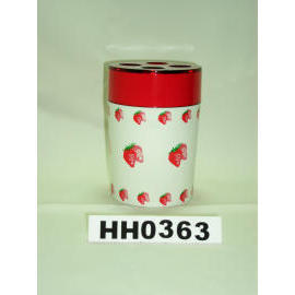 Snare series double color toothbrush holder strawberry paint (Snare Serie Double Color Zahnbürstenhalter Erdbeere Farbe)
