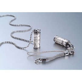 925 Sterling Silver Perfume Bottle Pendant / Essential Oil Bottle Necklace