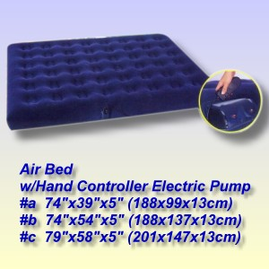 Coiled Air Bed with Hand Controller Electric Pump