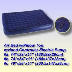 Air Bed with Pillow Top with Hand Controller Electric Pump