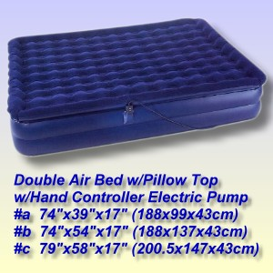 Double Air Bed with Hand Controller Electric Pump
