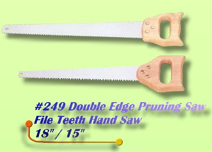 Pruning Saw Double Edge