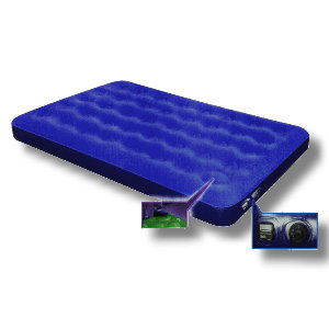 Air Bed with Built-In Battery Pump