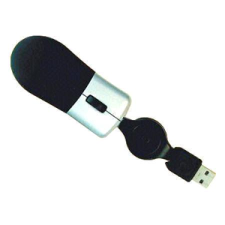 Two-Tone 3D Optical Mouse with Retractable Cable, Ideal for Notebook Computers (Двухцветный 3D оптическая мышь с убирающимся кабель, Идеальны для портативных компьютеров)