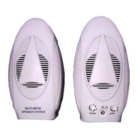 White Entry Level Multimedia Speaker Set with 2.25-Inch Cone Type Driver (Белый Entry Level Мультимедиа АС Установить с 2.25-дюймов Конус типа драйвера)