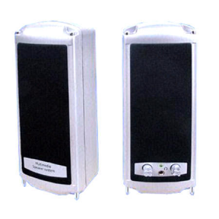2W Channel Multimedia Speakers with 2.5-Inch Cone Type Driver