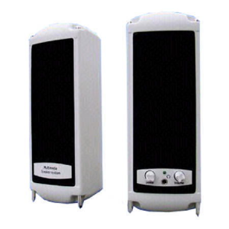 White Multimedia Speakers with 2.5-Inch Cone Type Driver