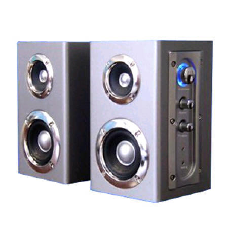2.0 Computer Speaker System Comes with MP3 Input and Earphone Output