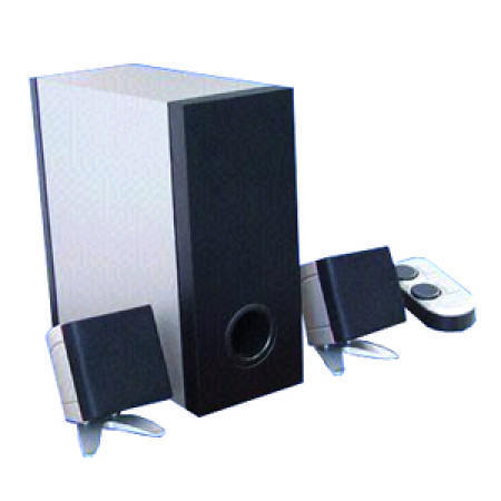 Two Tone Subwoofers Designed with Cute Satellites and Strong Bass Woofer