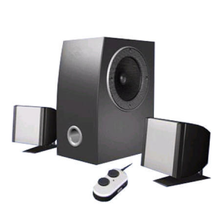 Magnetically-Shielded Wooden 2.1 Power Subwoofer System
