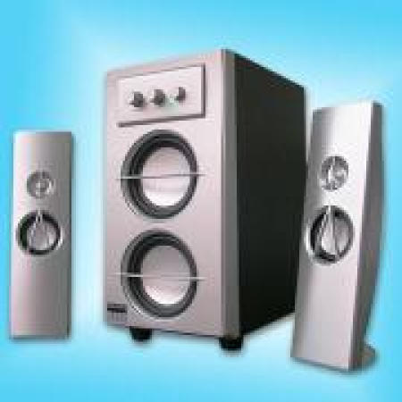 Compact 2.1 Multimedia Subwoofer Speaker System Playing CD, MD and MP3