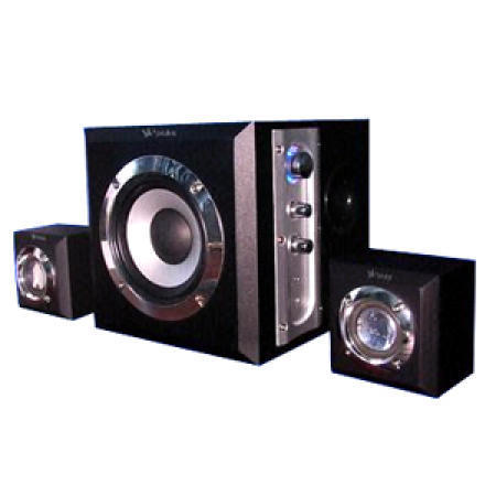 2.1 Wooden Subwoofer System with Earphone Output and MP3 Input