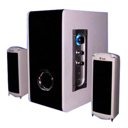 2.1 Subwoofer System with MP3 Input and Earphone Output Function