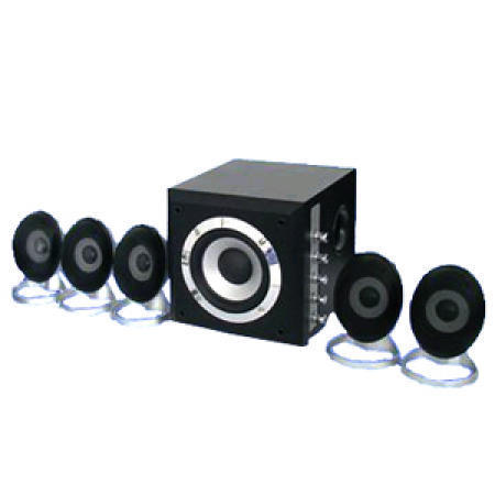 5.1-Channel Home Theater System with an Input Impedance of Four Ohms