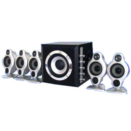 New High-Powered 5.1-Channel Home Theater System with Wooden Woofer Cabinet