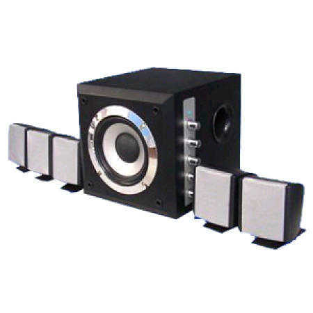 Home Theater System with 2 to 5.1 Channels Switchable