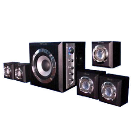Wooden Home Theater System with 2 to 5.1 Channels Switchable