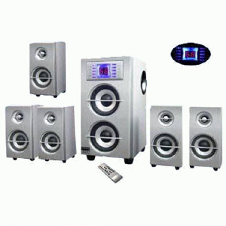 5.1-Channel Home Theater System Comes with a Choice Silver, Bluer or Green Drive
