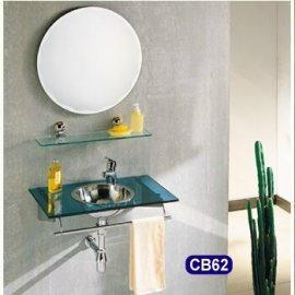 Glass Top with stainless steel basin (Со стеклянной столешницей из нержавеющей стали бассейне)