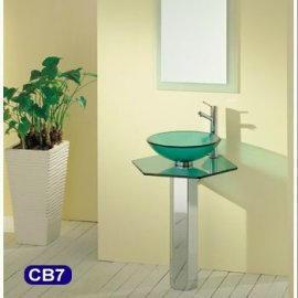 Glass Washbasin Set(bathroom accessories)