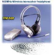 RM-668 Wireless Headset Type Stereo Auto Tracing Transceiver System With