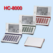Metal case data bank world time calendar calculator