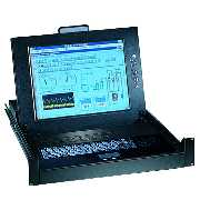 AX7250-8 2U Rackmount Keyboard Drawer with 15`` LCD & KVM Switch