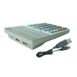 USB Calculator Key Pad with 2 hubs